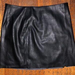 Abbeline vegan leather skirt